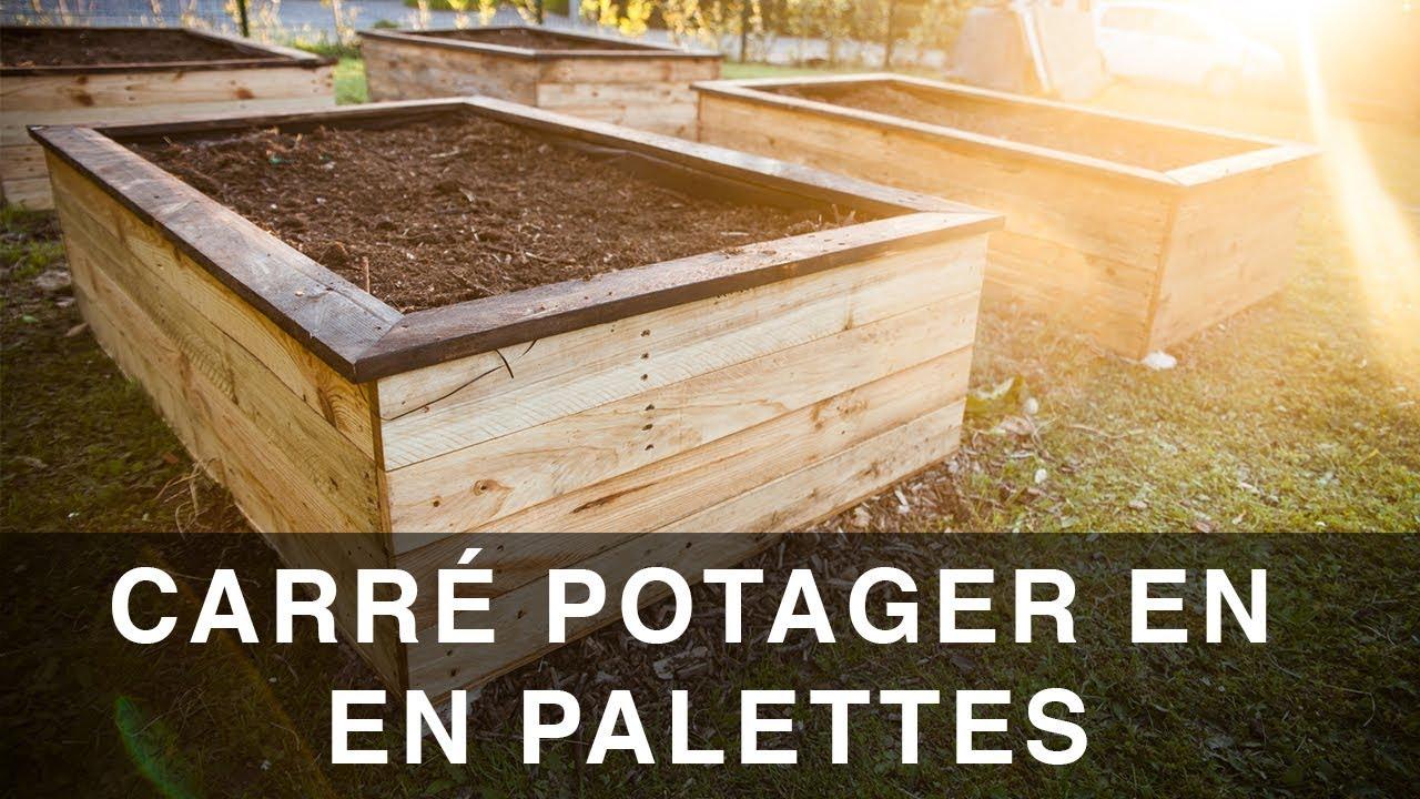 Carré Potager En Palettes avec Construire Jardin Surélevé