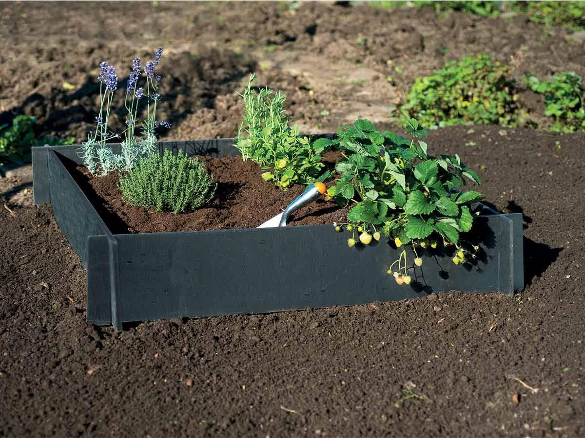 Carré Potager En Pvc Recyclé - Nature pour Jardin Au Carré