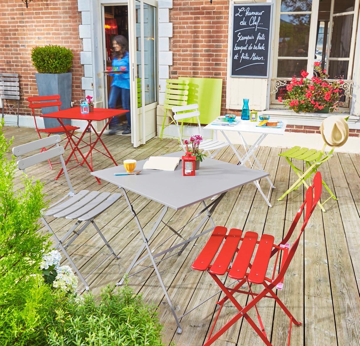 Carrefour - Chaise Bistrot Pliante - Vert - Pas Cher Achat ... pour Table Et Chaise De Jardin Carrefour