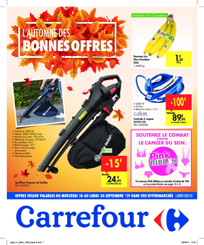 Carrefour – Dépliant Du 18.09.2019 Au 30.09.2019 – Page 1 ... serapportantà Abri De Jardin En Bois Carrefour