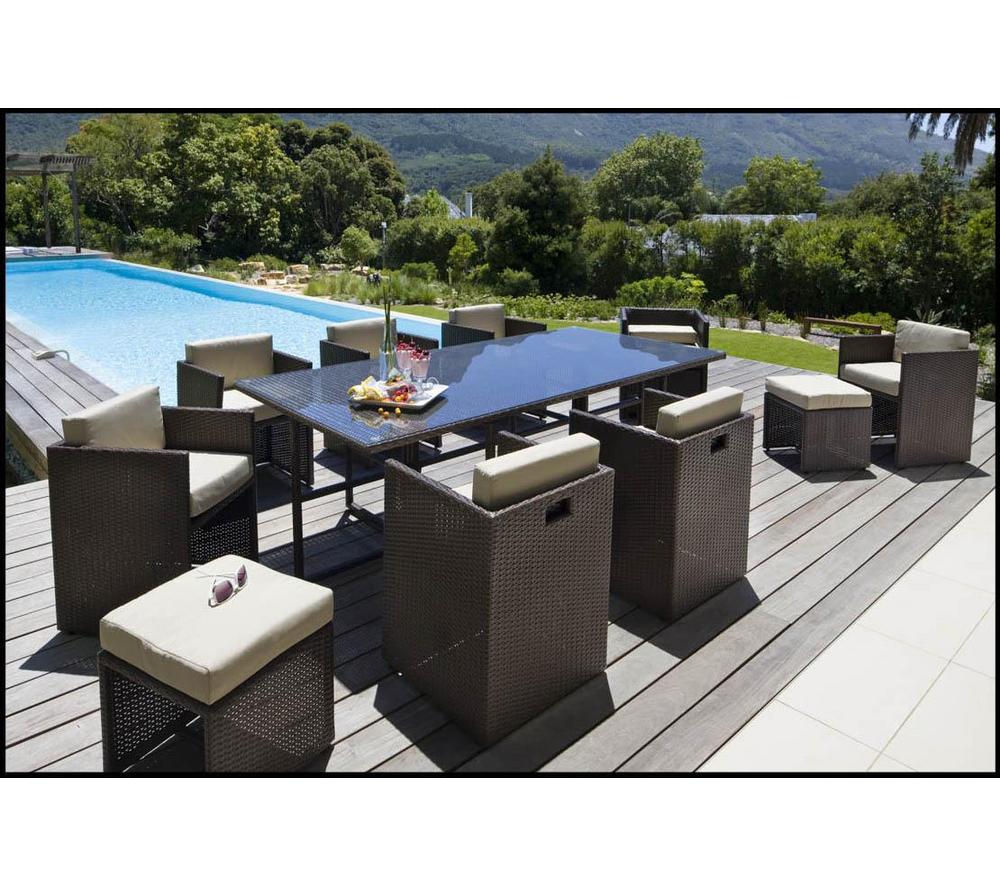 Carrefour Ensemble Table Et 8 Fauteuils De Jardin Set ... à Table Et Chaise De Jardin Carrefour