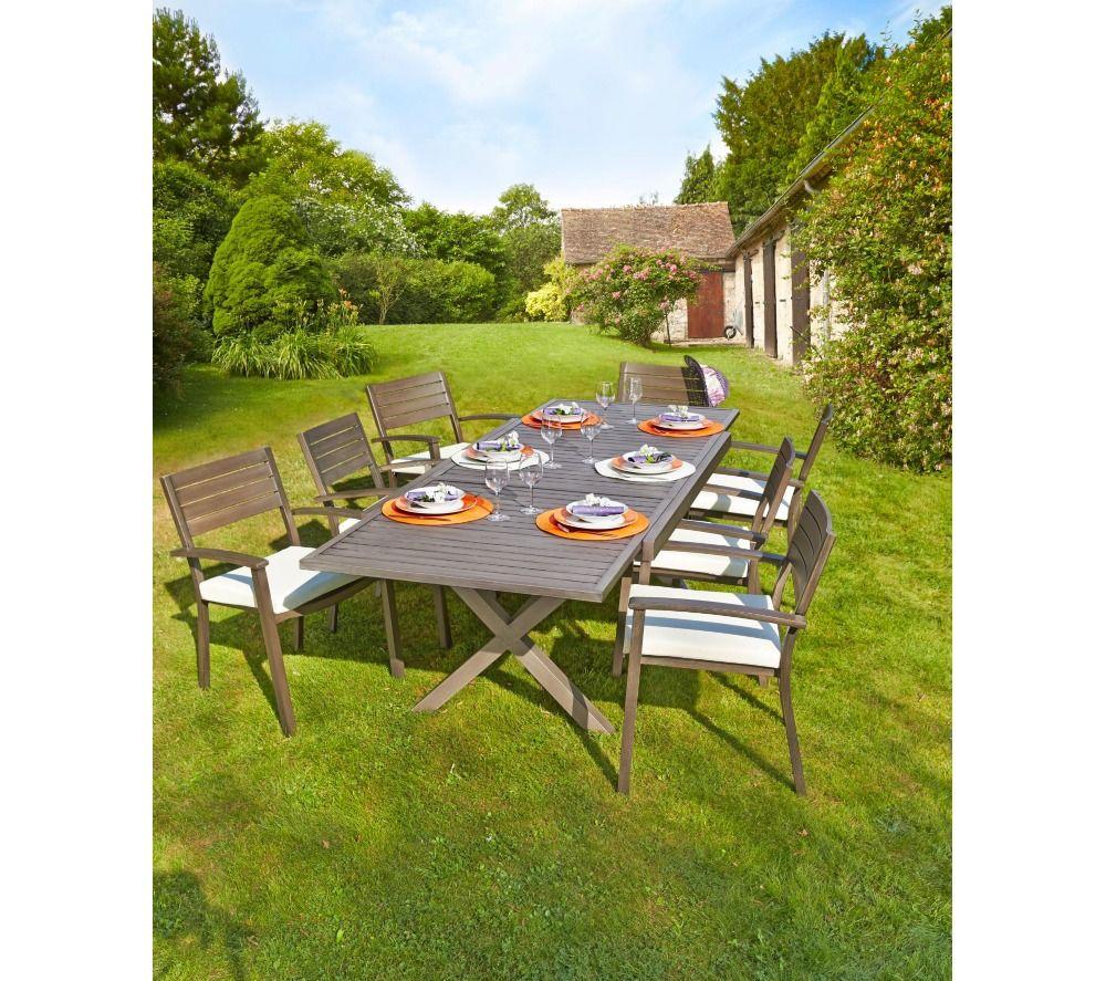 Carrefour Table De Jardin Extensible Honfleur   Agrément De ... avec Chaise Longue De Jardin Carrefour