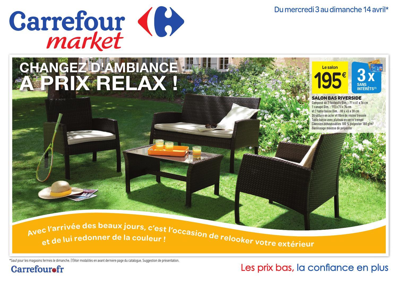Carrefour_3-14.4-2013 By Proomo France - Issuu encequiconcerne Salon De Jardin Tressé Carrefour