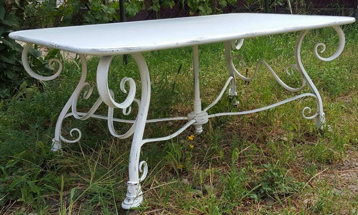 Casa Padrino Table De Jardin En Fer Forgé - Couleurs Différentes - 120 Cm X  70 Cm X H45 Cm - Jardin De Luxe Meubles pour Decoration De Jardin En Fer Forgé