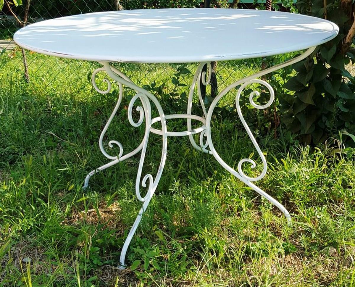 Casa Padrino Table De Jardin En Fer Forgé - Couleurs - Ø115 Cm X 75 Cm -  Luxe Meubles De Jardin encequiconcerne Decoration De Jardin En Fer Forgé