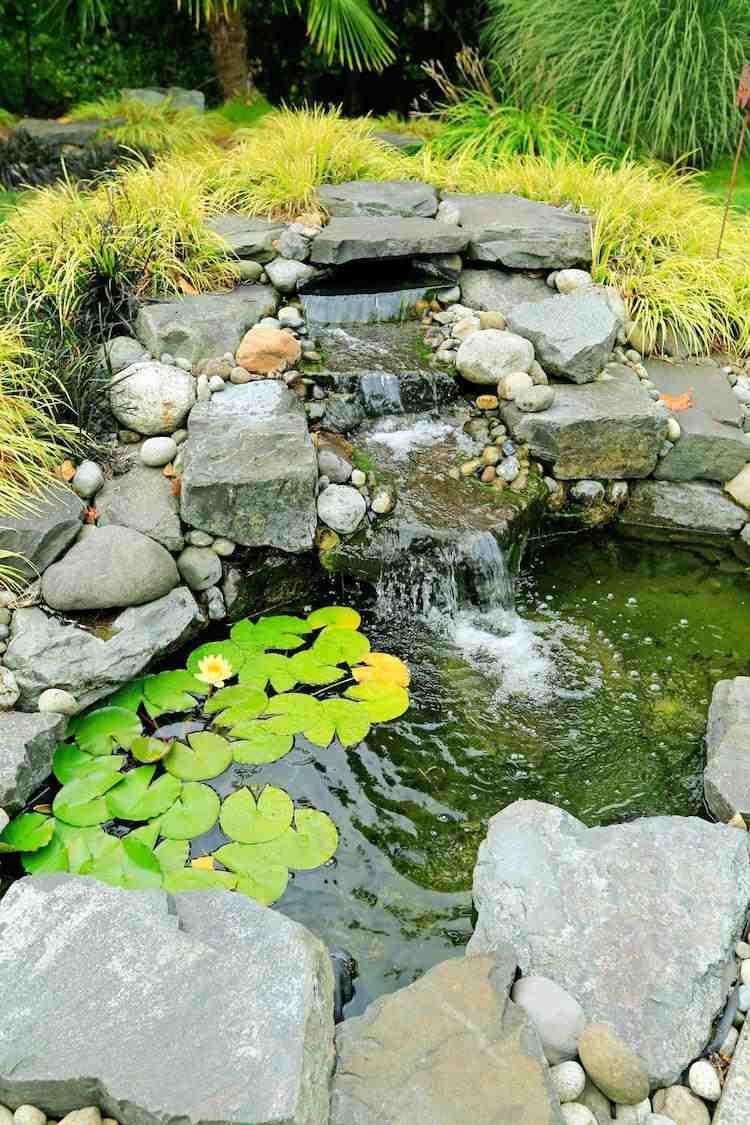 Cascade De Bassin En 46 Photos: Laquelle Avez-Vous Choisie? intérieur Bassin De Jardin En Pierre