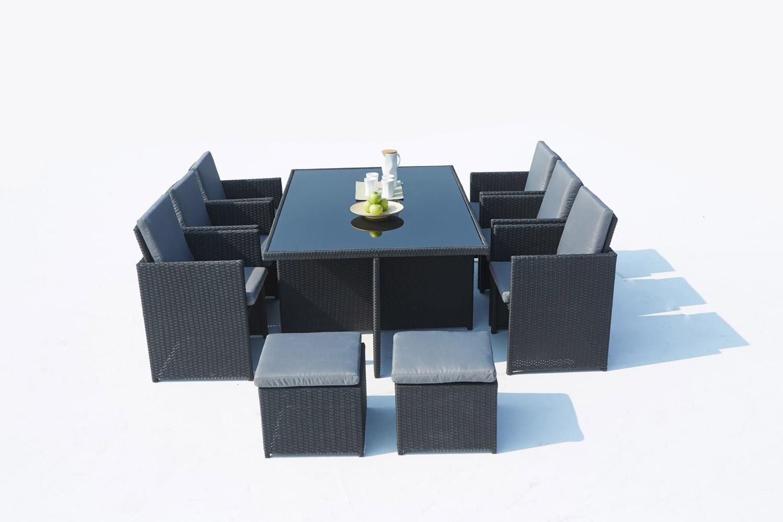 Cassis 10 Noir/gris tout Salon De Jardin Monaco