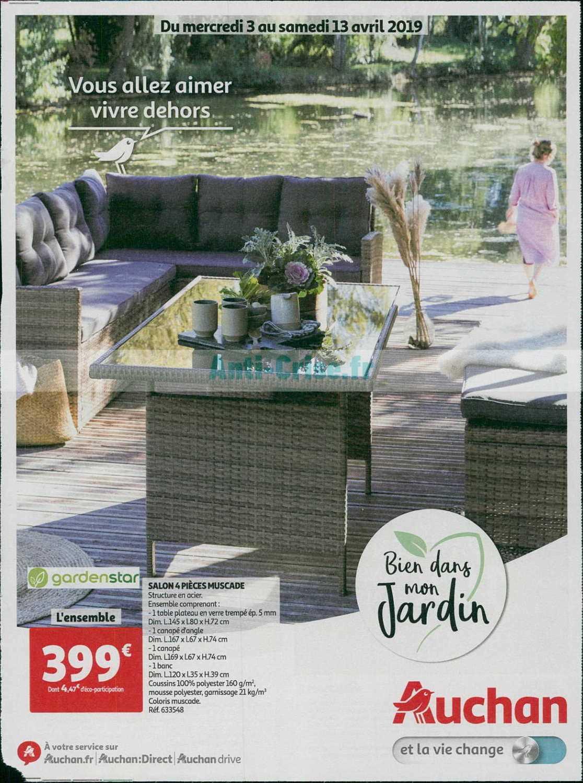 Catalogue Auchan Du 03 Au 13 Avril 2019 (Jardin ... serapportantà Salon De Jardin Auchan