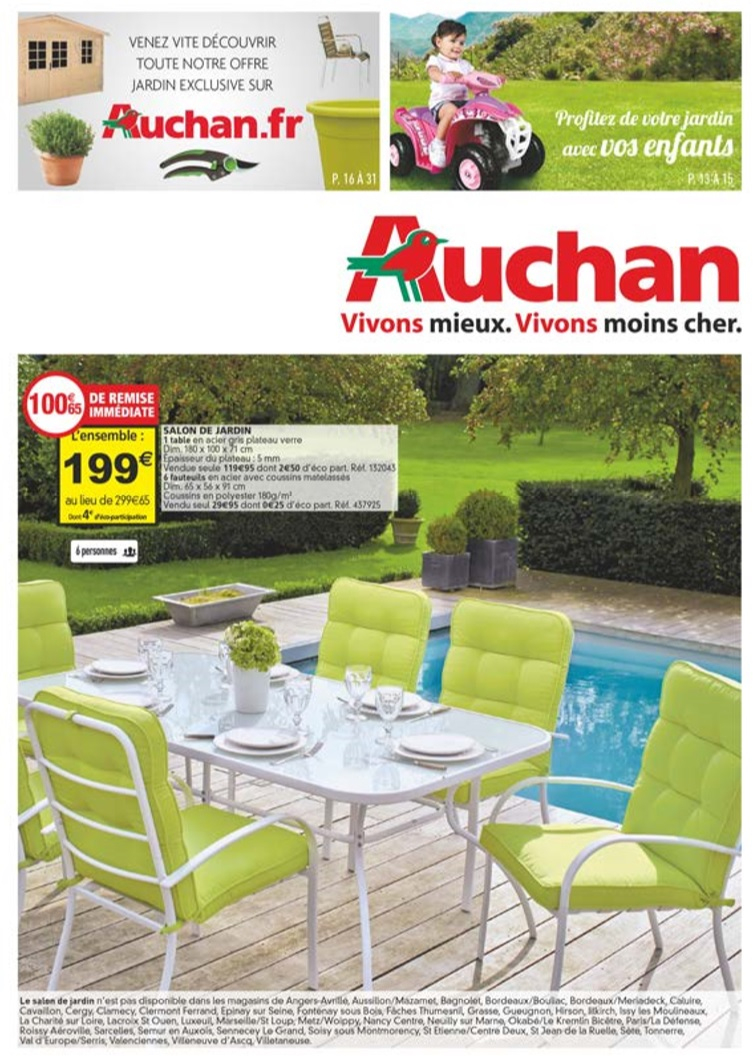 Catalogue Auchan Jardin Au 28 Avril 2015 - Catalogue Az destiné Auchan Salon De Jardin