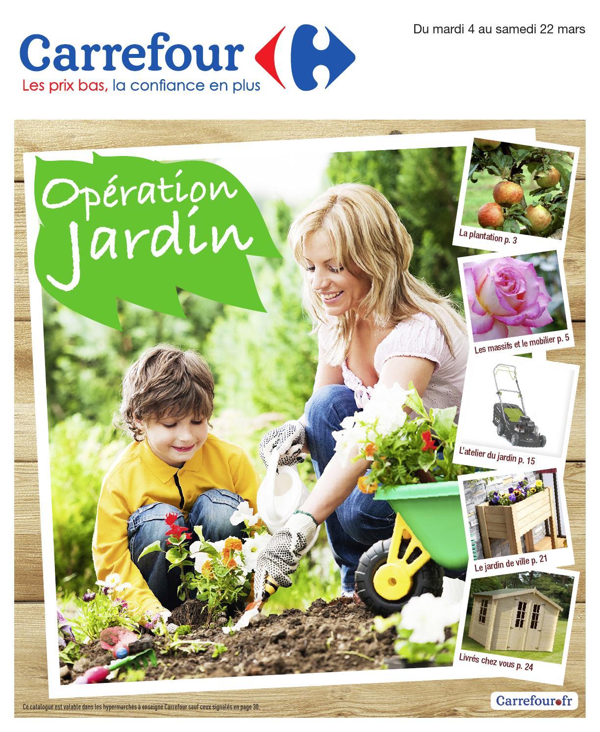 Catalogue Carrefour - 4-22.03.2014 By Joe Monroe - Issuu encequiconcerne Chalet De Jardin Carrefour