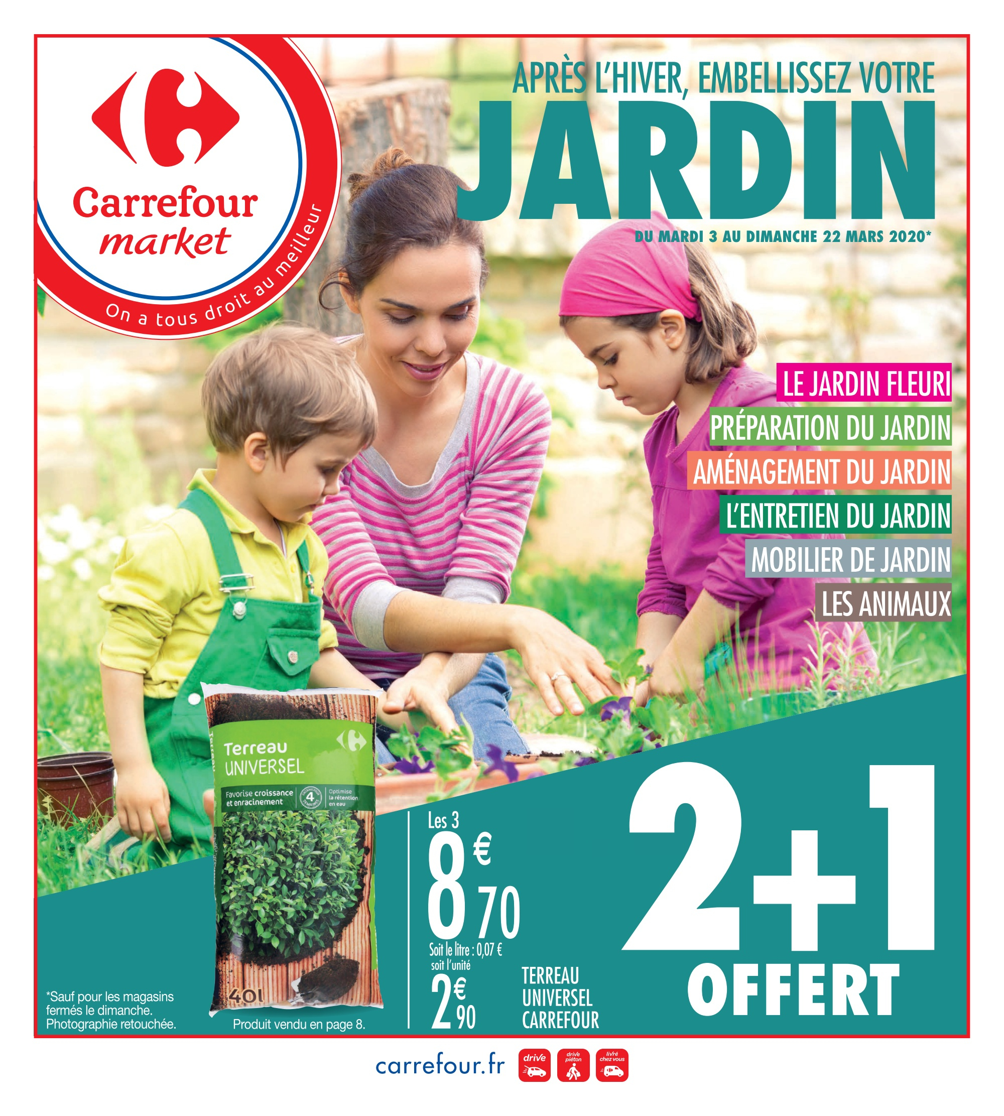 Catalogue Carrefour – Articles En Promotion - 03/03/2020 ... destiné Serre De Jardin Carrefour