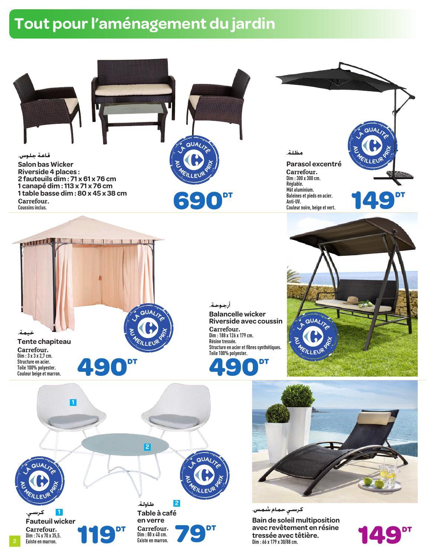 """Catalogue Carrefour """"jardin Et Mobilier"""" By Carrefour ... à Balancelle Jardin Carrefour"""