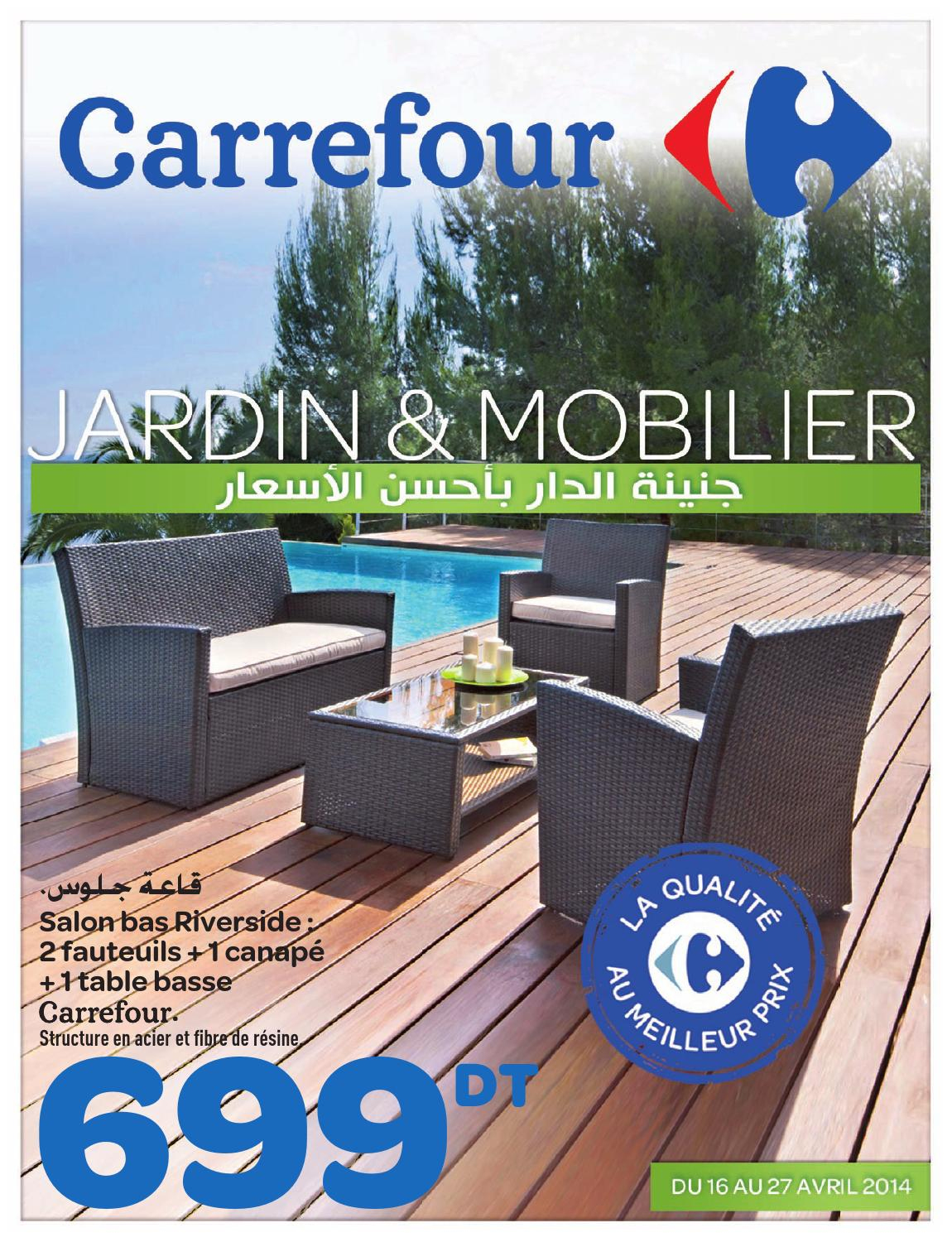 "Catalogue Carrefour ""jardin Et Mobilier"" By Carrefour ... serapportantà Table De Jardin En Bois Carrefour"