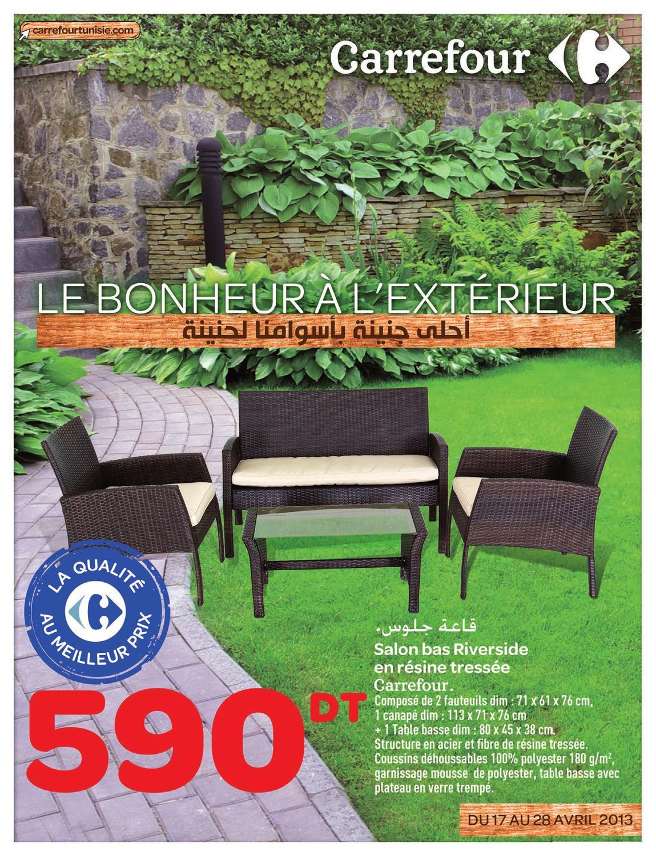 Catalogue Carrefour Le Bonheur À L'extérieur By Carrefour ... pour Salon Jardin Resine Carrefour
