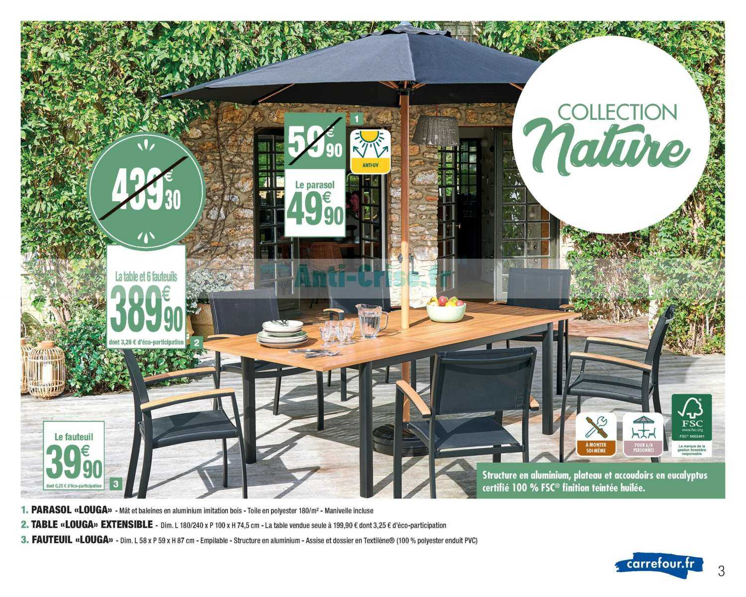 Catalogue Carrefour Market Du 24 Mars Au 19 Avril 2020 ... tout Table De Jardin En Bois Carrefour