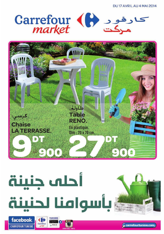 """Catalogue Carrefour Market """"jardin Et Mobilier"""" By Carrefour ... pour Transat Jardin Carrefour"""