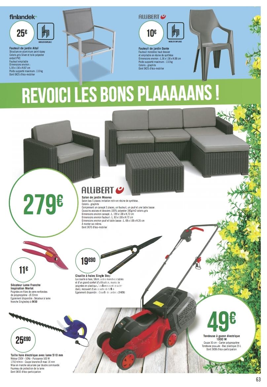 Catalogue Casino Mobilier Et Outils De Jardin Du 5 Mars Au ... intérieur Salon De Jardin Geant Casino