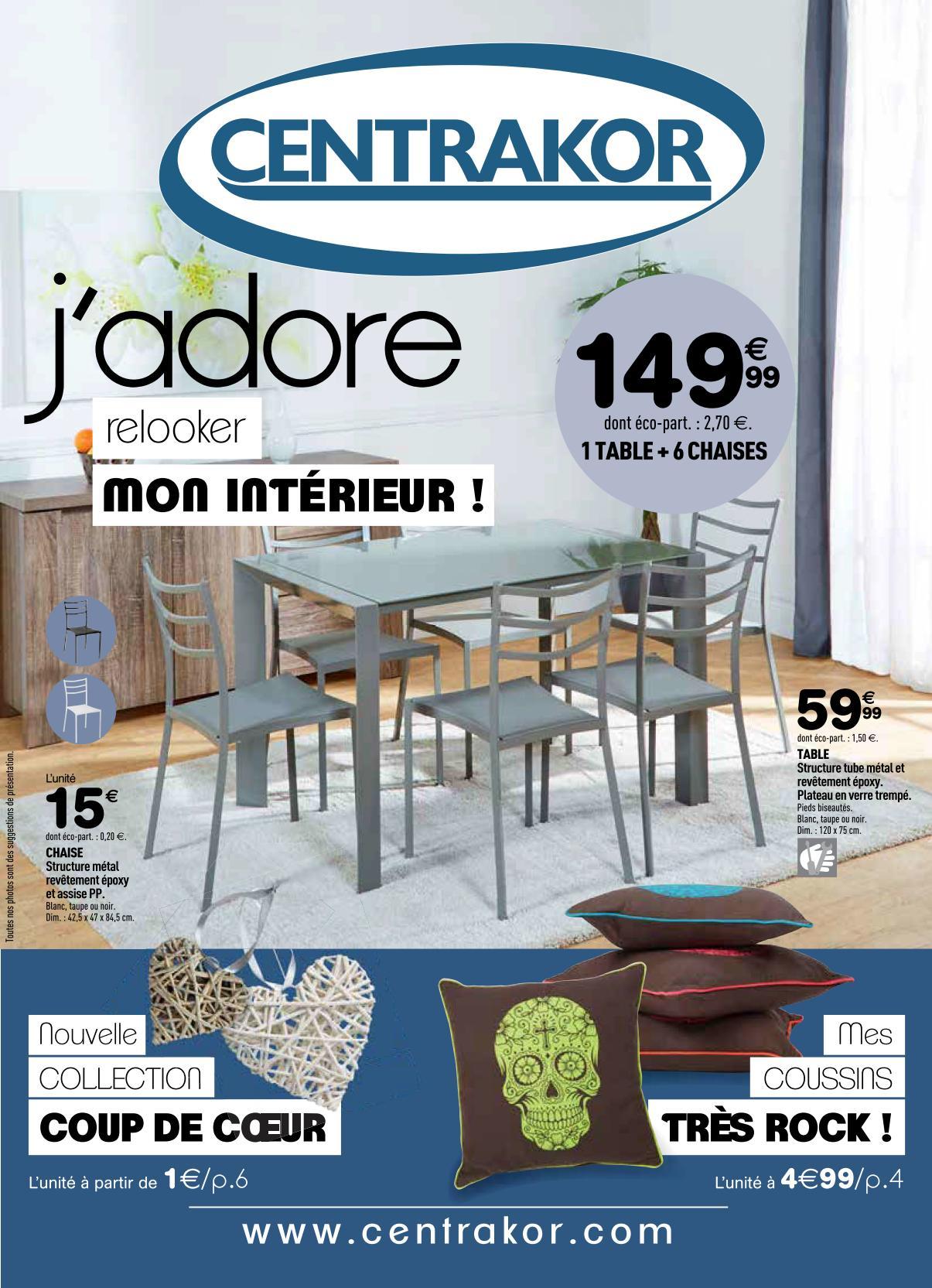 Catalogue Centrakor Idées Déco 1-28 Septembre 2014 ... dedans Table De Jardin Centrakor