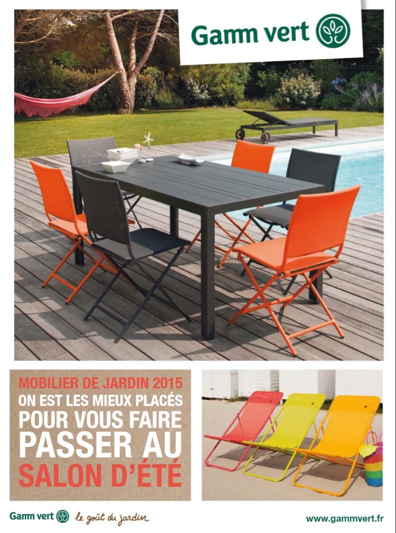 Catalogue Gamm Vert Mobilier De Jardin 2015 - Catalogue Az pour Gamm Vert Salon De Jardin