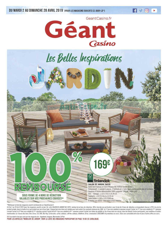 Catalogue Géant Casino Du 02 Au 28 Avril 2019 (Jardin ... encequiconcerne Table De Jardin Geant Casino