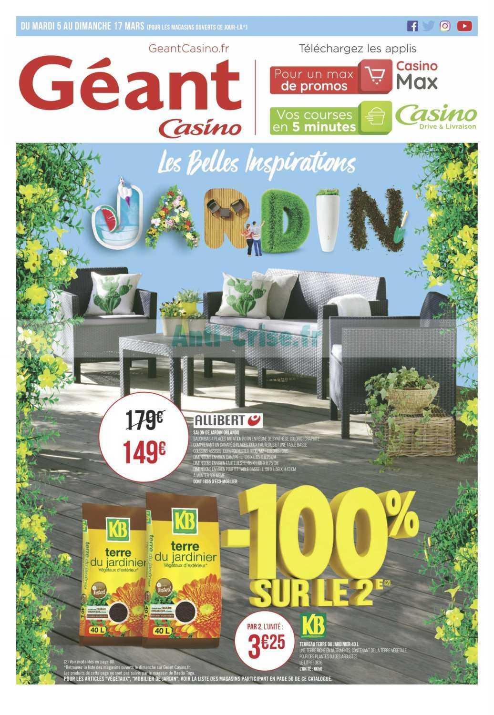 Catalogue Géant Casino Du 05 Au 17 Mars 2019 (Jardin ... encequiconcerne Table De Jardin Geant Casino