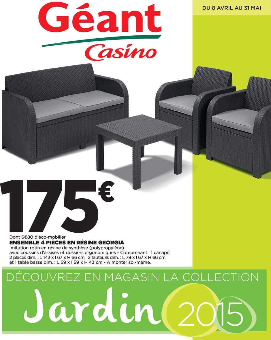 Catalogue Géant Casino Jardin Avril - Mai 2015 - Catalogue Az serapportantà Table De Jardin Geant Casino