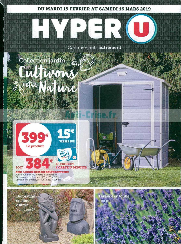 Catalogue Hyper U Du 19 Février Au 16 Mars 2019 (Jardin ... concernant Hyper U Salon De Jardin