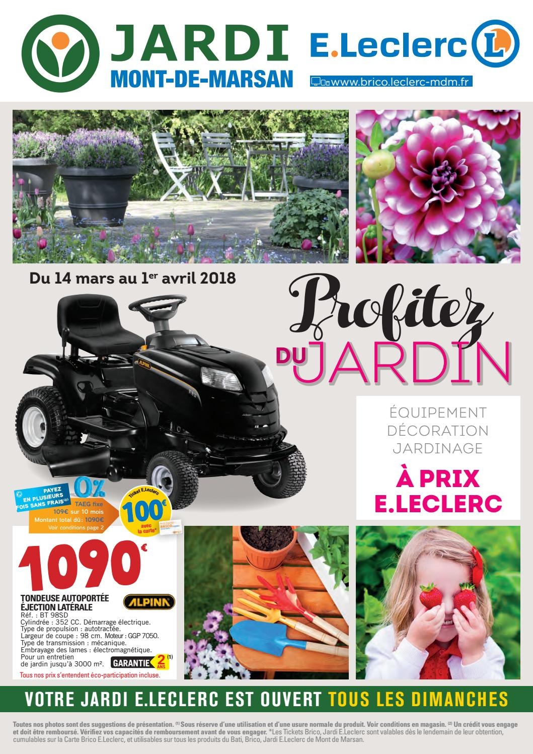 Catalogue Jardin - Jardi E.leclerc By Chou Magazine - Issuu à Tondeuse Leclerc Jardin