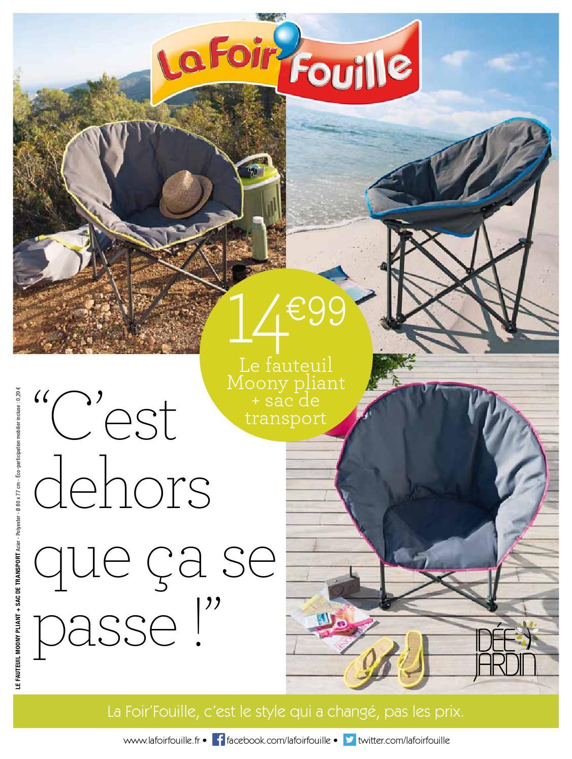 Catalogue La Foir Fouille - C'est Dehors Que Ça Se Passe! By ... intérieur Salon De Jardin La Foir Fouille