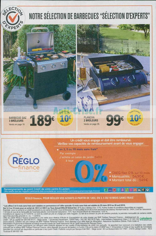 Catalogue Leclerc Du 02 Au 13 Avril 2019 (Jardin ... destiné Mobilier De Jardin Leclerc