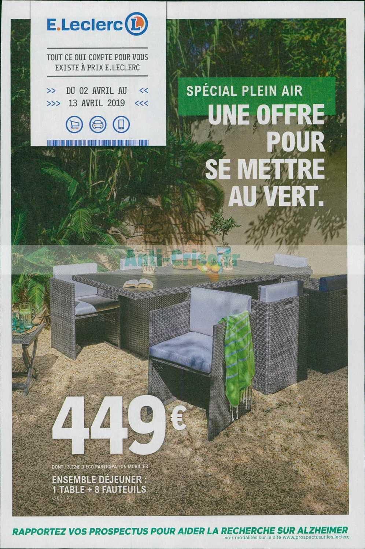 Catalogue Leclerc Du 02 Au 13 Avril 2019 (Jardin ... intérieur Salon De Jardin Chez Leclerc