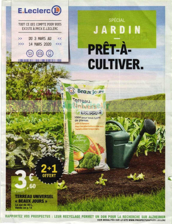 Catalogue Leclerc Du 03 Au 14 Mars 2020 (Jardin ... pour Tondeuse Leclerc Jardin