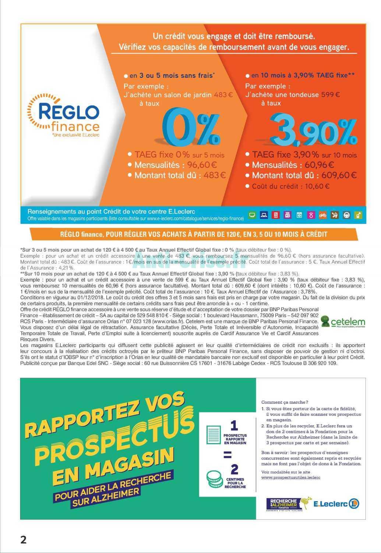 Catalogue Leclerc Du 05 Au 17 Mars 2019 (Jardin ... intérieur Salon De Jardin Leclerc Catalogue