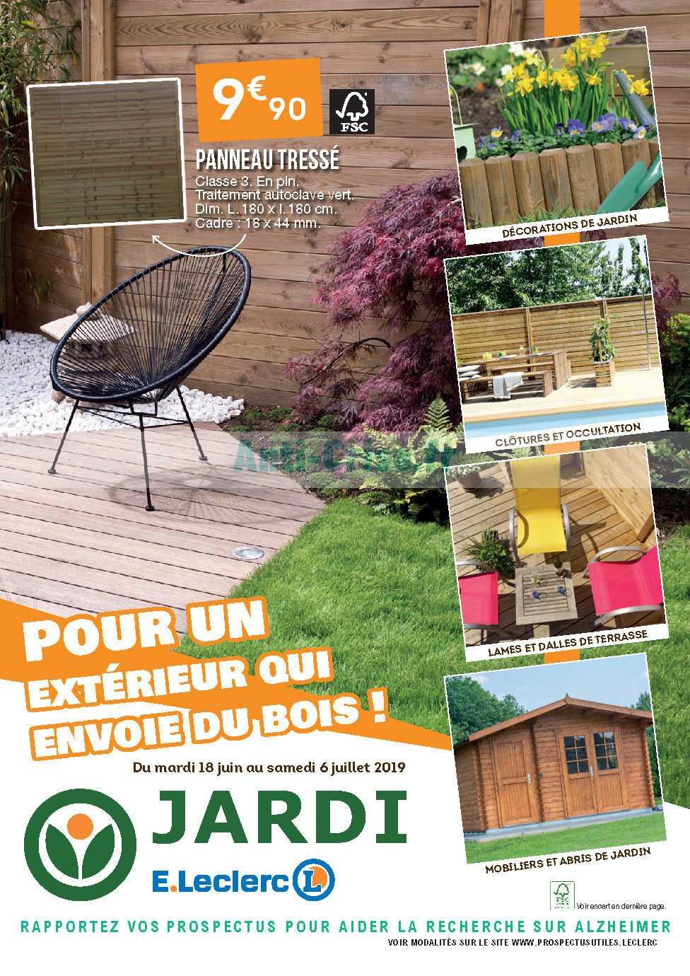 Catalogue Leclerc Du 18 Juin Au 06 Juillet 2019 (Jardi ... tout Abris Jardin Leclerc
