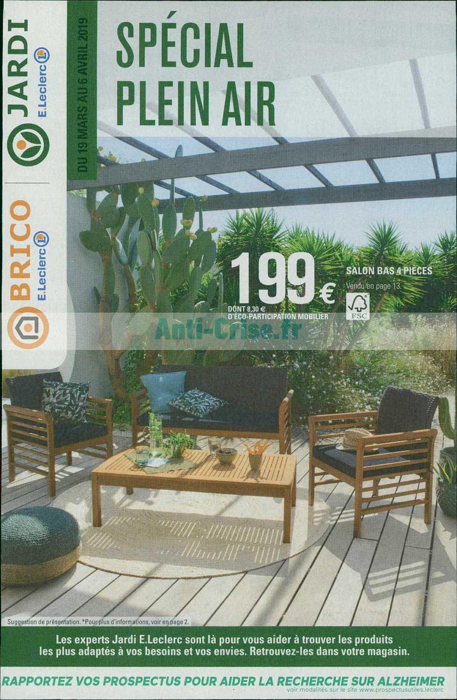 Catalogue Leclerc Du 19 Mars Au 06 Avril 2019 (Plein Air ... concernant Mobilier De Jardin Leclerc