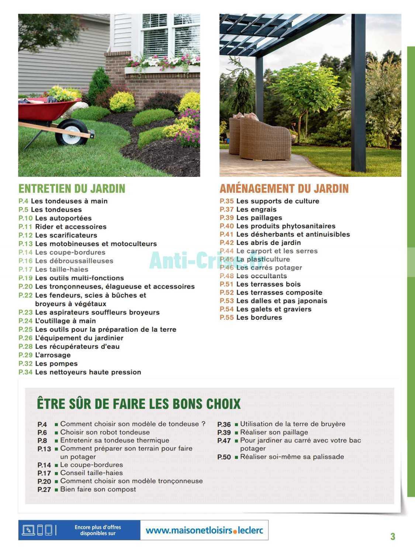 Catalogue Leclerc Du 20 Février Au 31 Décembre 2020 (Jardin ... destiné Tondeuse Leclerc Jardin