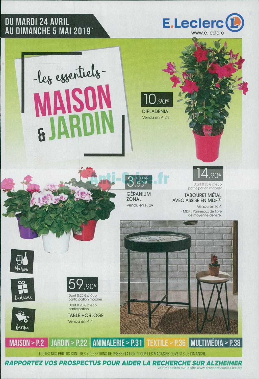 Catalogue Leclerc Du 24 Avril Au 05 Mai 2019 (Maison ... dedans Table De Jardin Magasin Leclerc