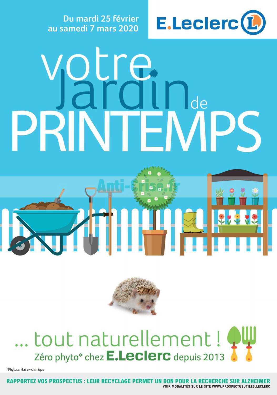 Catalogue Leclerc Du 25 Février Au 07 Mars 2020 (Bretagne ... encequiconcerne Table De Jardin Magasin Leclerc