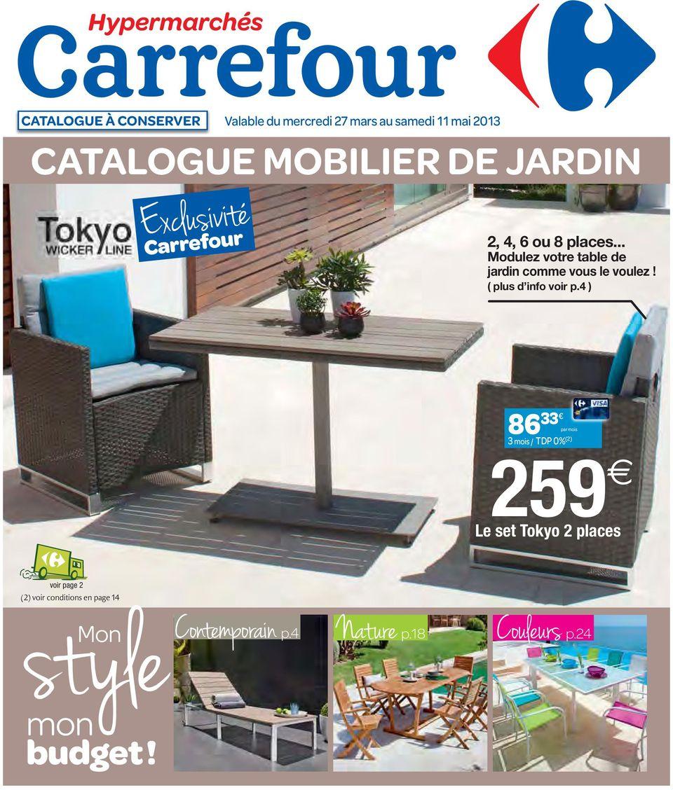 Catalogue Mobilier De Jardin - Pdf Téléchargement Gratuit intérieur Balancelle Jardin Carrefour