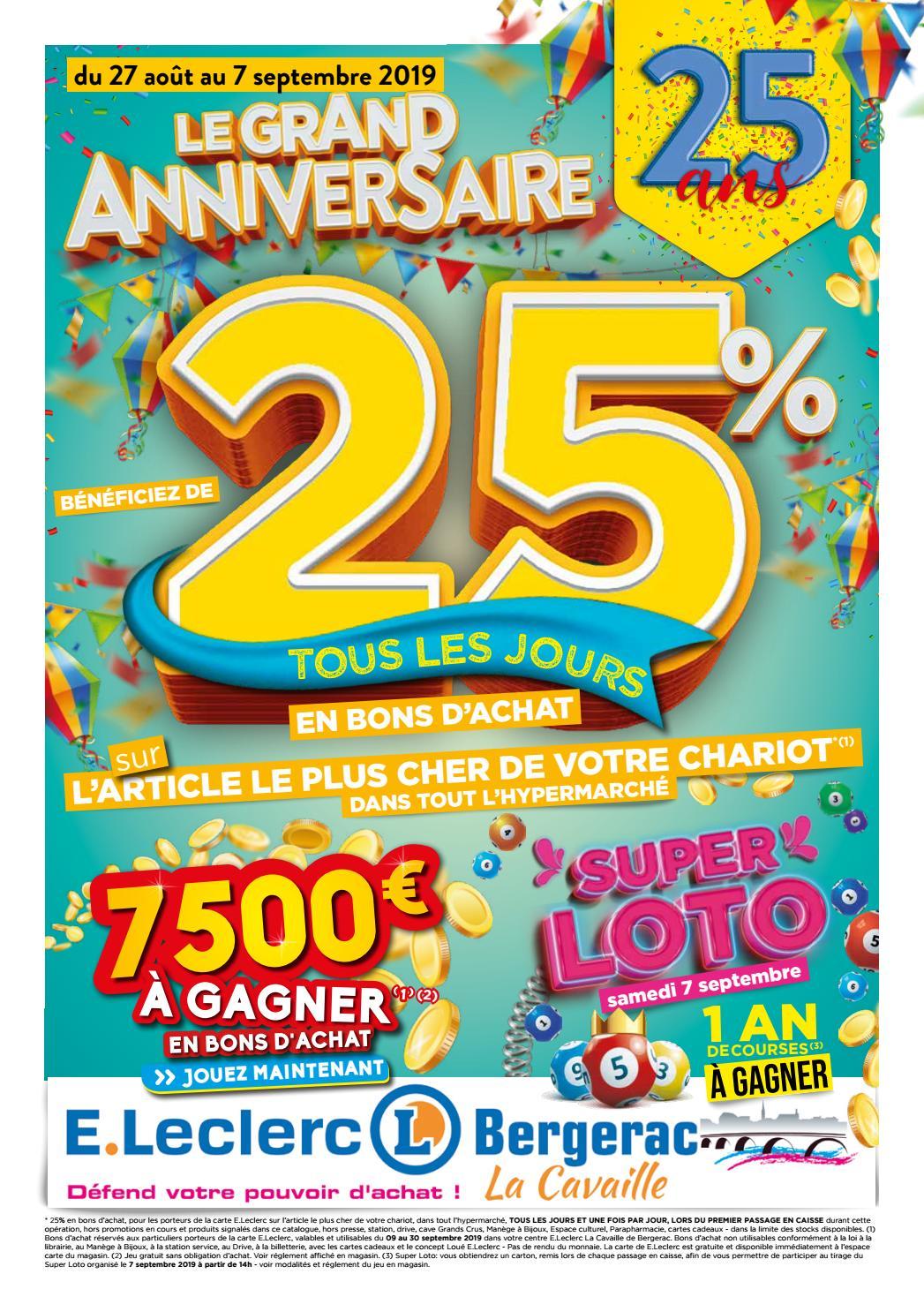 Centre E.leclerc De Bergerac - Anniversaire 25 Ans By ... concernant Table De Jardin Magasin Leclerc