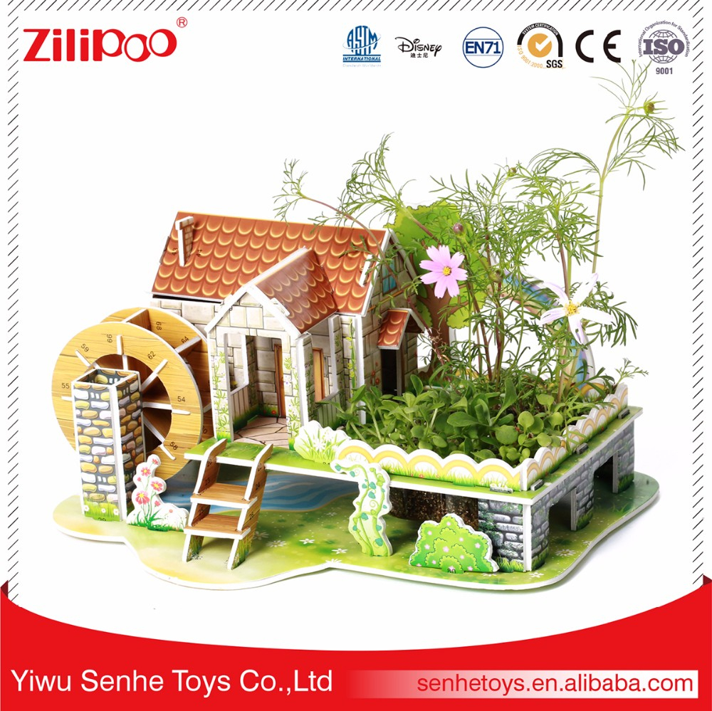 Certificat Iso Intelligente Maison Puzzle 3D Papier Jouet ... tout Maison De Jardin Jouet