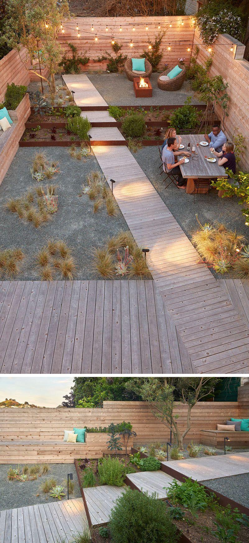Cette Allée En Diagonale Est Intéressante Car Elle Contraste ... à Idée Allée De Jardin