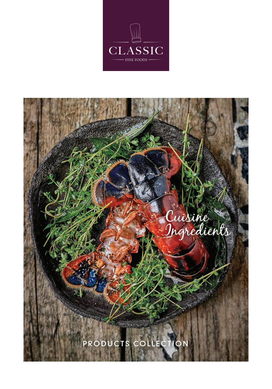 Cff Sg - Cuisine Ingredients - Catalogue 2019 By Classic ... dedans Filet De Protection Jardin