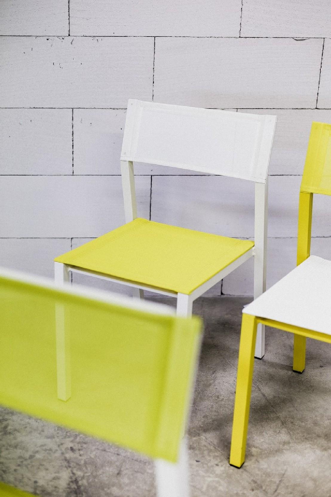 Chaise Cora, Extérieur De Jardin En Métal Aluminium De ... à Table De Jardin Cora