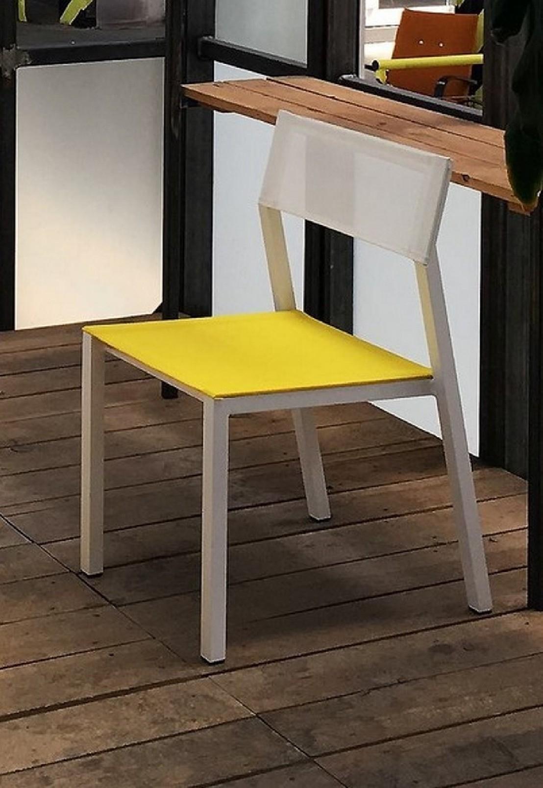 Chaise Cora, Extérieur De Jardin En Métal Aluminium De ... intérieur Table De Jardin Cora