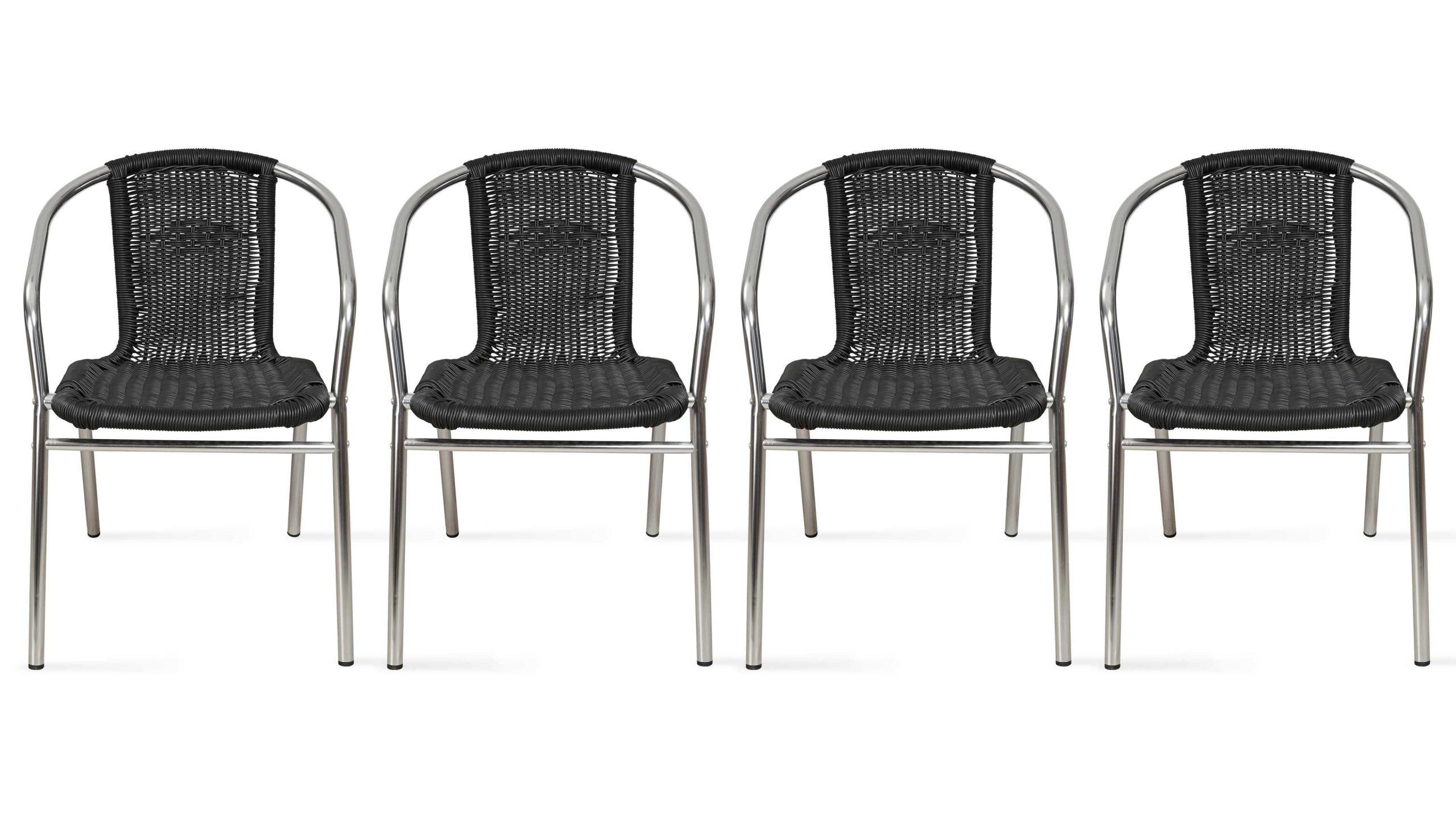 Chaise De Jardin Aluminium Et Résine Empilable tout Chaise Bistrot Aluminium Jardin