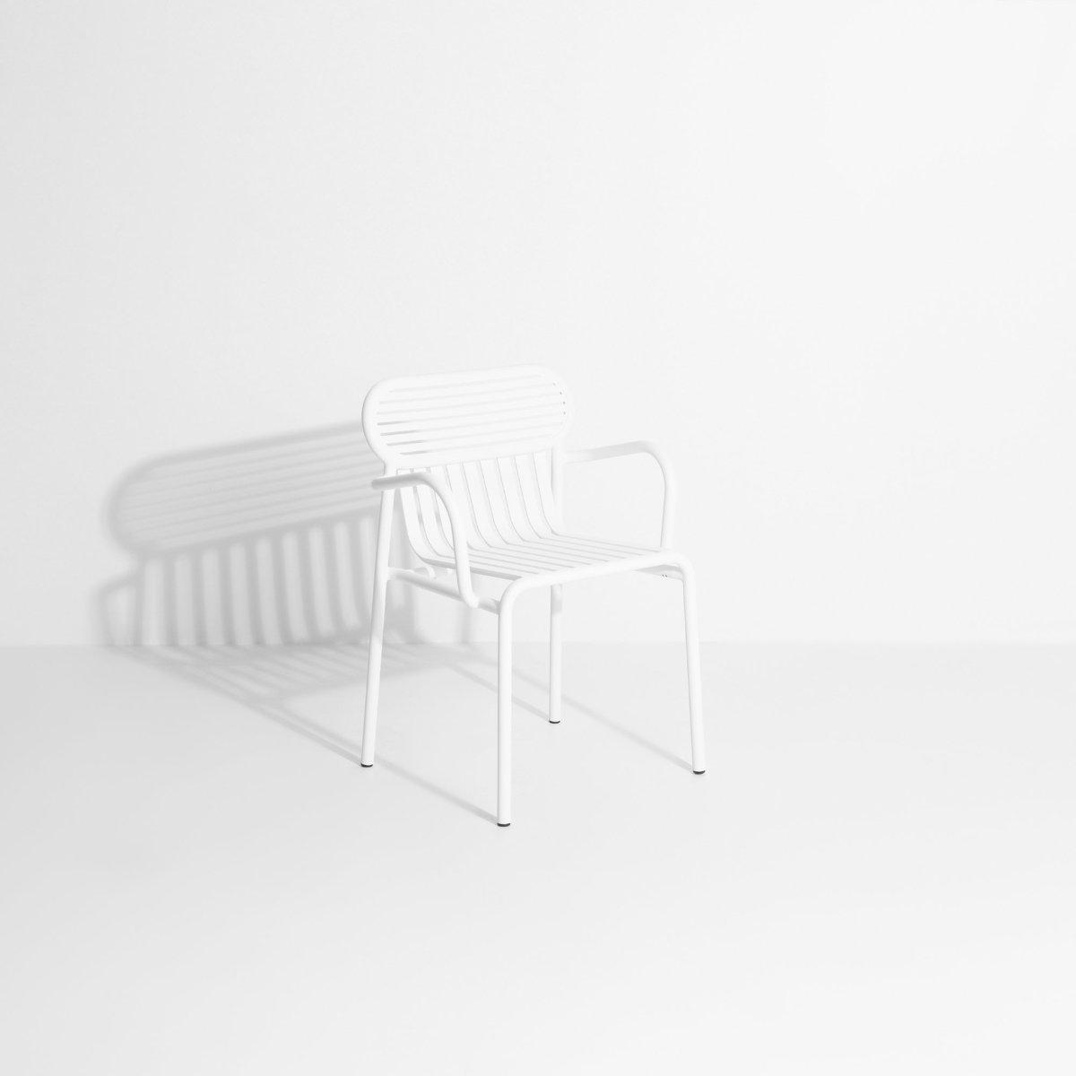 Chaise De Jardin Avec Accoudoirs Blanche Week-End - Petite Friture destiné Chaise De Jardin Blanche
