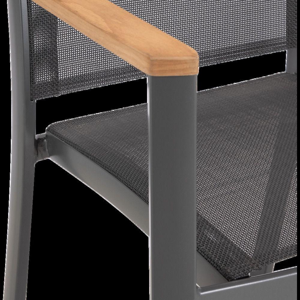 Chaise De Jardin Avec Accoudoirs En Aluminium Et Textilène ... intérieur Alinea Chaise Jardin