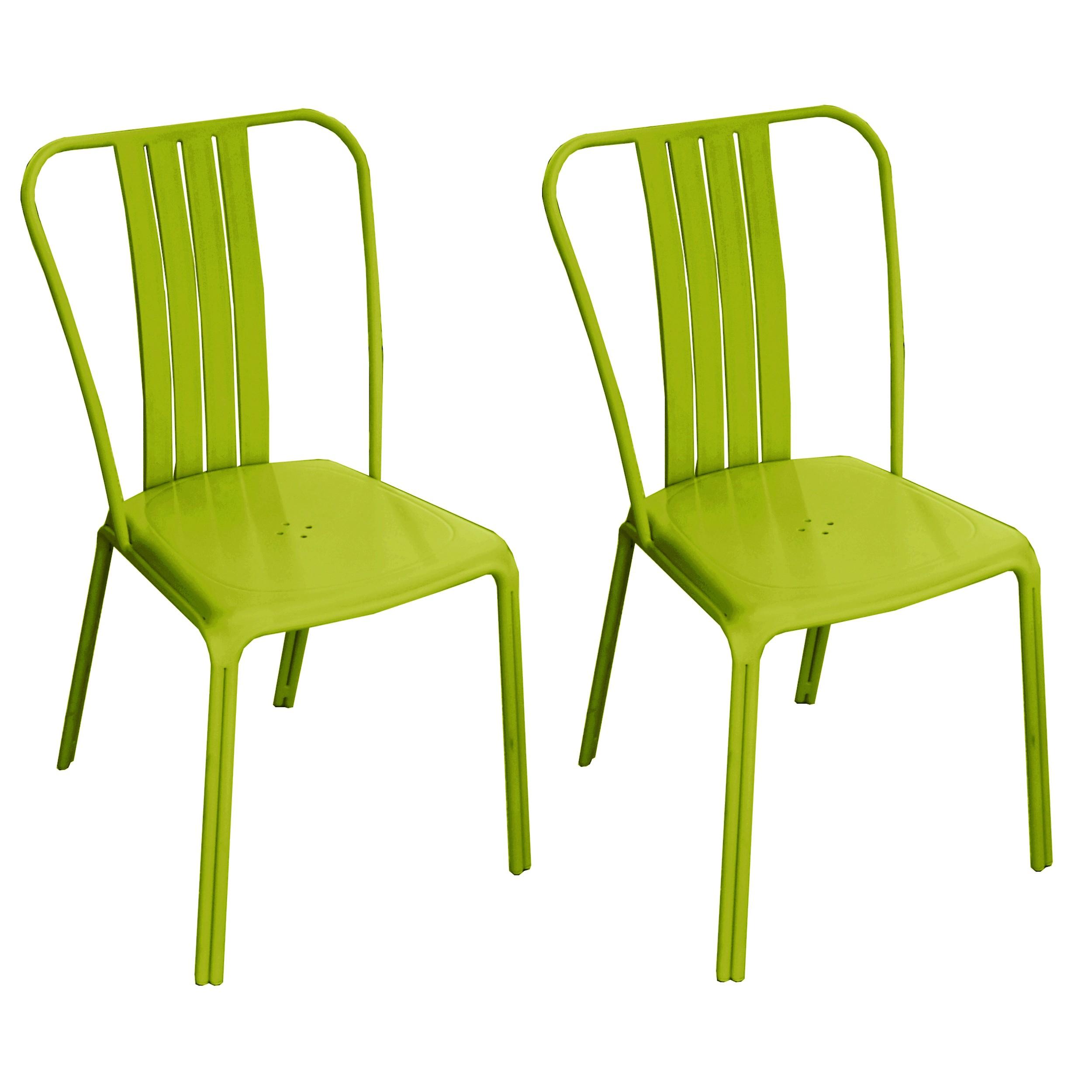 Chaise De Jardin Azuro Verte (Lot De 2) intérieur Chaise De Jardin Verte
