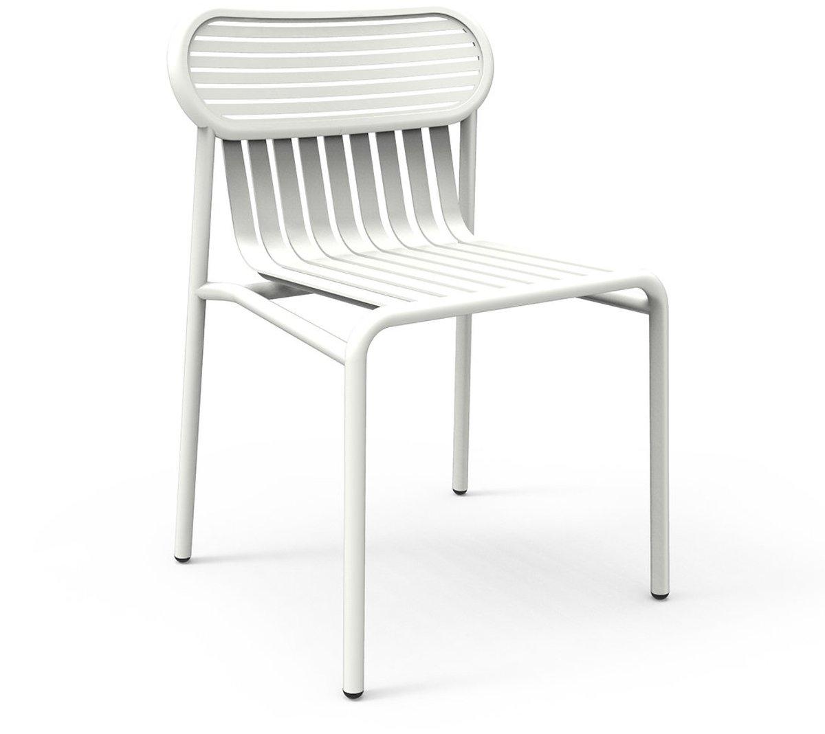 Chaise De Jardin Blanche Week-End - Petite Friture intérieur Chaise De Jardin Blanche
